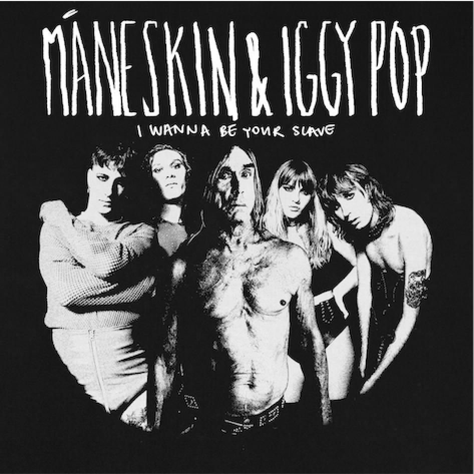 "Måneskin con Iggy Pop in ""I wanna be your slave"""